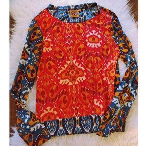 🏵️ Tory Burch Pima Cotton Multicolor Top 🏵️